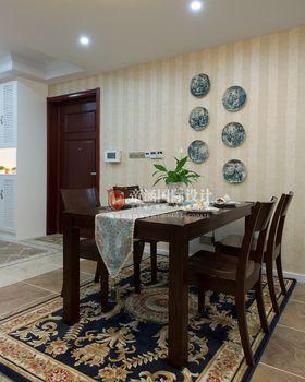 经济型100平米三室两厅美式风格餐厅图片