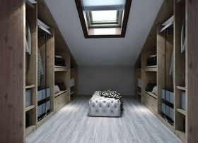 100平米三现代简约风格书房装修案例