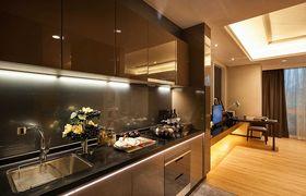 50平米一居室现代简约风格厨房效果图