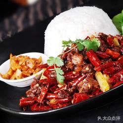 黑椒鸡排饭的用户十辣子鸡饭好不好吃?肥肠评万杰食品机械河南图片