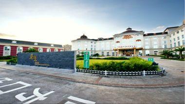 【珠海等】珠海市爱琴海汽车精品酒店1晚+双早+双人海泉湾海洋温泉门票-美团