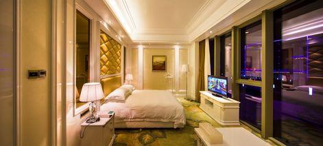 【黄山等】黄山丰大国际大酒店1晚+双人浩瀚天下门票+双人自助晚餐+双早-美团