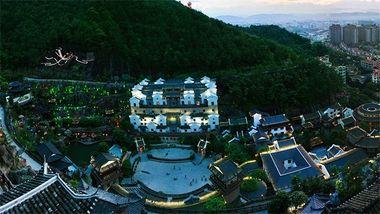 【梅州等】梅州金沙湾国际大酒店1晚+双早+双人梅州客天下客家小镇门票-美团