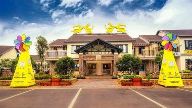 【重庆等】七色花园度假酒店 1 晚+武隆天生三桥/龙水峡地缝景区门票+双早-美团