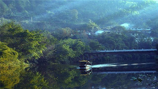 重庆云溪谷假日酒店1晚+双人统景温泉风景区门票+双早