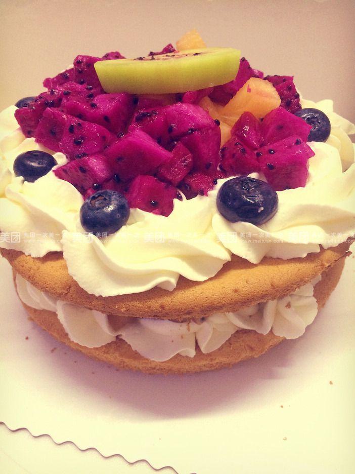 裸休体_缤纷水果裸蛋糕6寸(芒果,火龙果,蓝莓等当季新鲜水果)