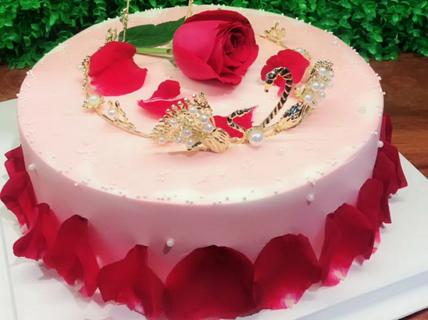【3店通用】布朗熊蛋糕店布朗熊蛋糕店玫瑰皇冠蛋糕1
