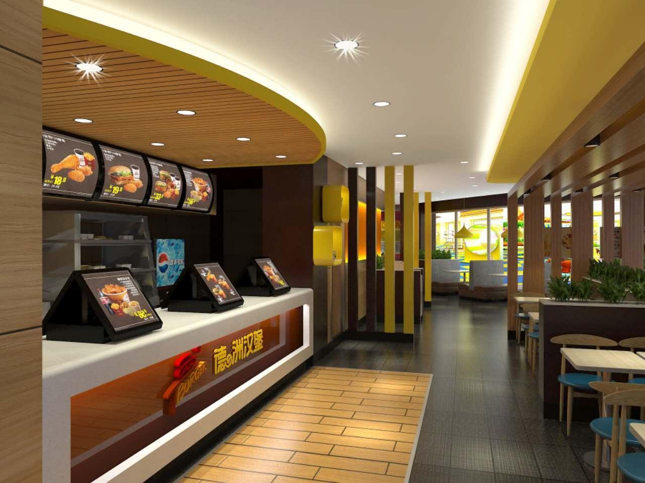 汉堡店装修效果图大全