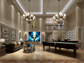 富裕型140平米别墅美式风格健身室装修图片大全