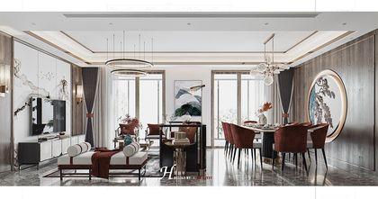 120平米四中式风格客厅效果图