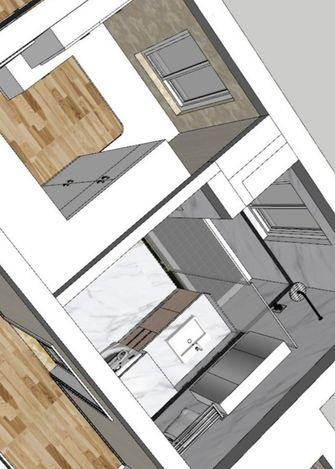 90平米三室两厅北欧风格衣帽间装修案例
