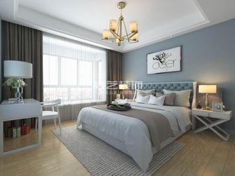 80平米三室两厅欧式风格卧室装修图片大全