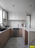 富裕型三室两厅现代简约风格厨房装修效果图