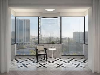 20万以上110平米法式风格阳台图