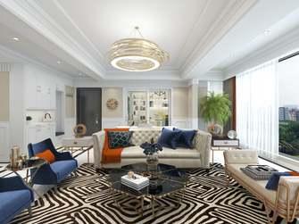 20万以上130平米四室一厅美式风格客厅设计图