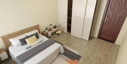 50平米田园风格卧室图片