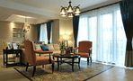 120平米三美式风格客厅装修效果图