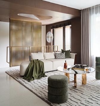 20万以上140平米轻奢风格客厅装修案例