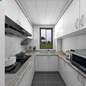 经济型60平米公寓轻奢风格厨房设计图