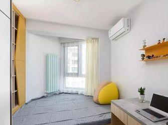 富裕型110平米三室两厅北欧风格卧室图片大全