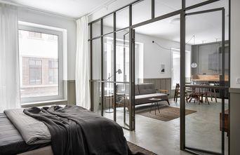 富裕型50平米一室两厅工业风风格卧室图