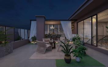 140平米复式法式风格阳台图片