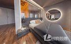 5-10万40平米小户型公装风格卧室图
