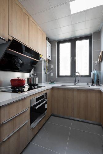 富裕型110平米三室两厅日式风格厨房图片大全