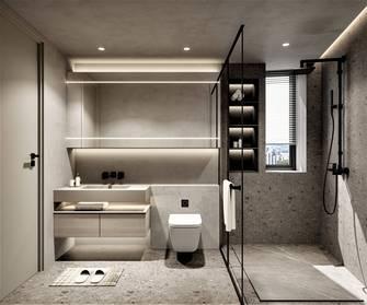 20万以上140平米三室两厅现代简约风格卫生间设计图