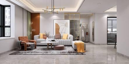 豪华型140平米三室两厅法式风格客厅设计图