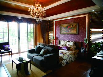 20万以上140平米别墅东南亚风格卧室装修图片大全