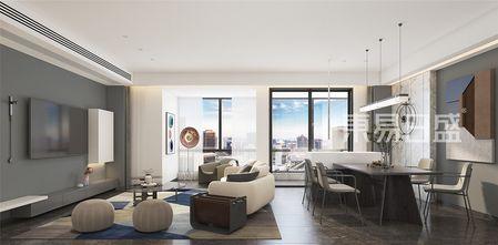 豪华型120平米三现代简约风格客厅装修效果图