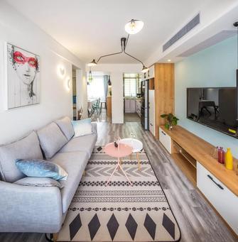 经济型60平米北欧风格客厅图片