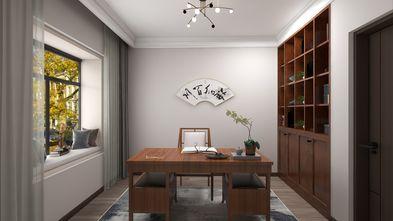 富裕型100平米三室一厅中式风格书房装修案例