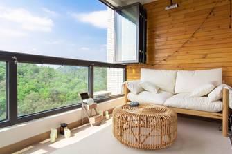 140平米三室一厅混搭风格阳台欣赏图