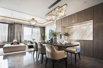 豪华型140平米四室一厅轻奢风格餐厅设计图