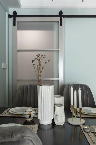 富裕型80平米三室一厅现代简约风格餐厅图