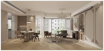 120平米四室四厅法式风格客厅欣赏图