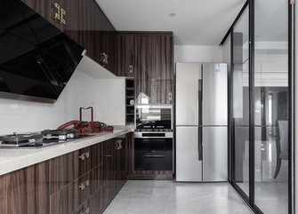 富裕型120平米三室两厅现代简约风格厨房图片