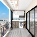 3-5万80平米现代简约风格阳台效果图