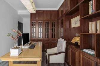 富裕型130平米三室两厅美式风格书房图