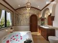 豪华型140平米别墅地中海风格卫生间装修案例