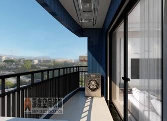 5-10万90平米三室两厅轻奢风格阳台效果图