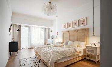 10-15万80平米三室一厅北欧风格卧室效果图