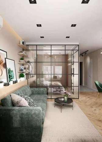 5-10万60平米一室一厅北欧风格客厅图片