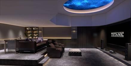 豪华型140平米别墅中式风格影音室装修图片大全