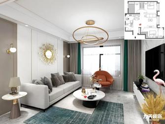 5-10万100平米三室两厅英伦风格客厅装修图片大全