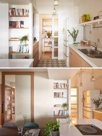 110平米三室两厅日式风格餐厅设计图