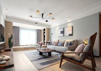 80平米一居室轻奢风格客厅图