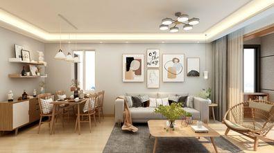 90平米三日式风格客厅设计图